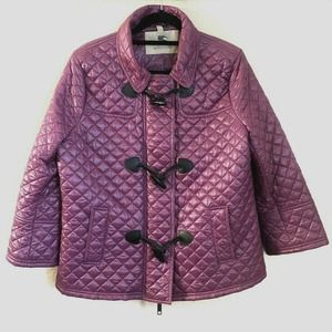 Burberry Toggle Coat Quilted Puffer Jacket Zip Up
